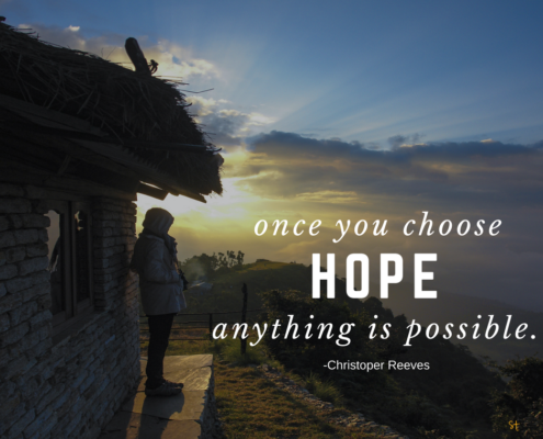 Christopher Reeves Quote on Hope