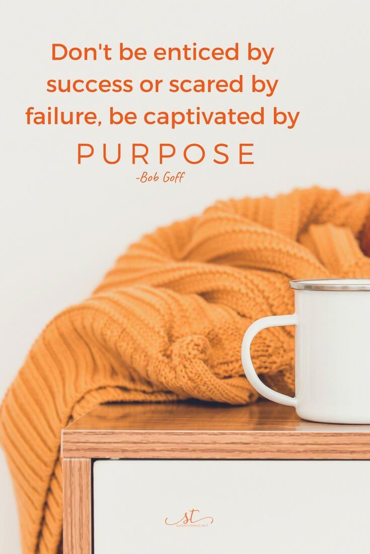 purpose trumps passion sara thomas