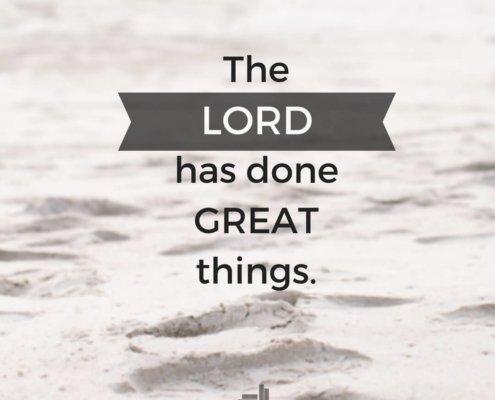 Lord has done great things sara thomas