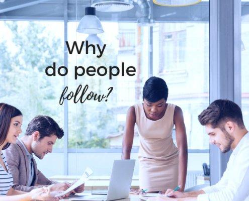 why do people follow? sara thomas