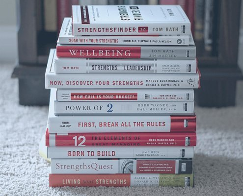 strengths books stack sara thomas coach