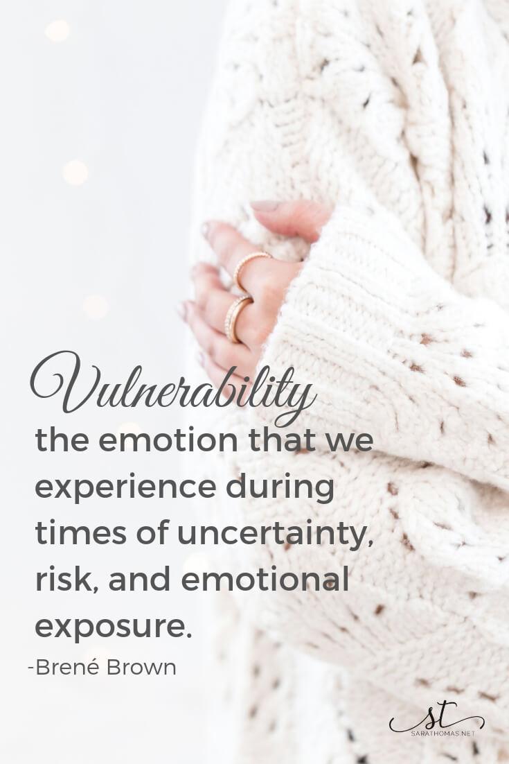 Brene Brown Vulnerability Sara Thomas