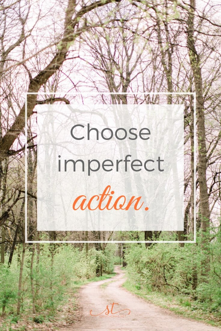 Get moving. Whether it's a baby step toward a goal or 500 literal steps toward 5000 step goal. Get going. Choose imperfect action over NO action. Choose to get going versus beating yourself up. In other words, move. Learn more on the blog. #goals #tgif #sarathomas #imperfect Sara Thomas