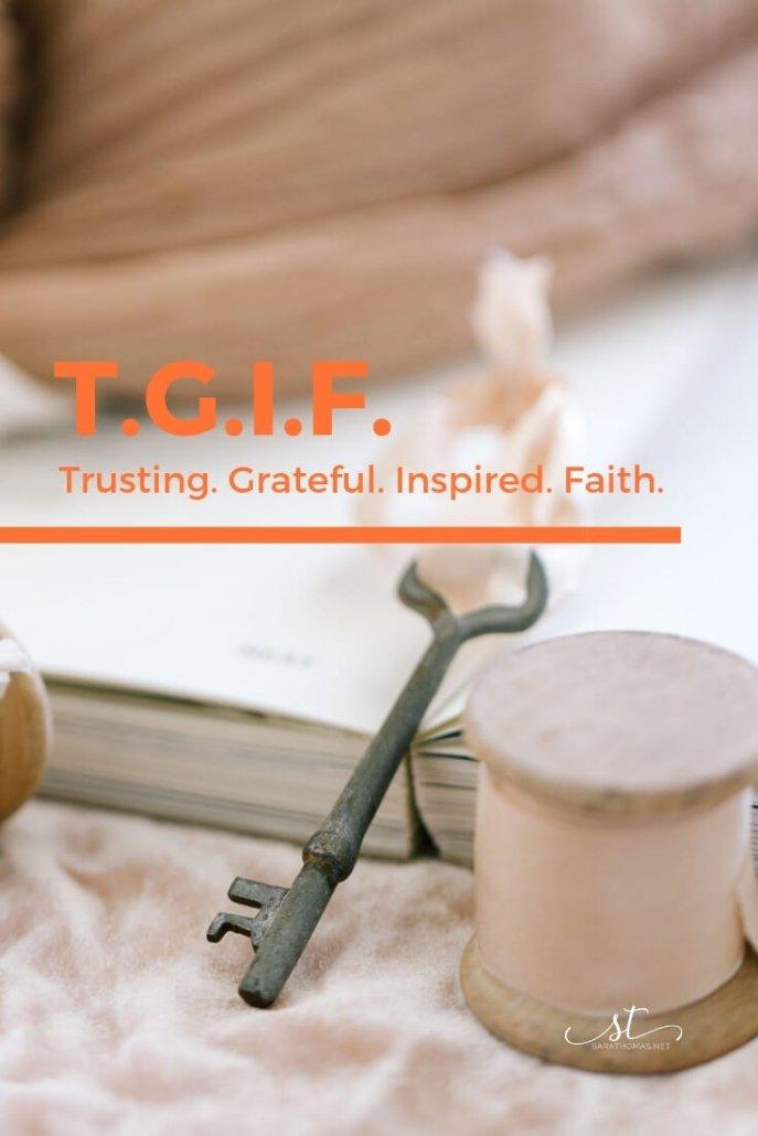 TGIF Week 1 Sara Thomas