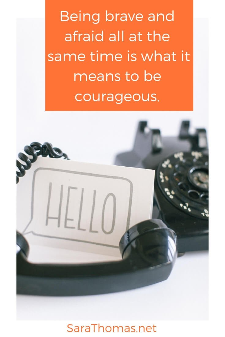 Is it possible to be brave and afraid all at the same time? Yes! It's called being courageous. If you want to be courageous, you'll need to rumble with vulnerability. If you want to rumble with vulnerability, you'll need to know how you self-protect. Find out more in this blog post. #brave #afraid #fear #courage #vulnerability Sara Thomas