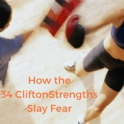 You want to be courageous, but fear holds you back. Explore how the 34 CliftonStrengths (formerly StrengthsFinder) can help you slay fear by rumbling with vulnerability. #courage #vulnerability #cliftonstrengths #strengthsfinder #rumble Sara Thomas