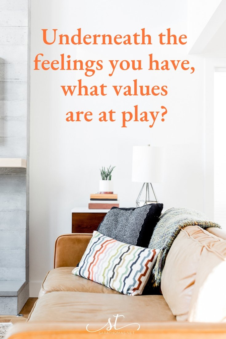 Our feelings are often driven by our values. To help people sort through what they are feeling, especially during times of stress or anxiety, here's a question to consider. #coaching #questions #stress #coach #umc #pastors Sara Thomas