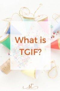 What is TGIF Sara Thomas